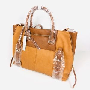 NWT Sole Society Large Camel Tote Shoulder Bag